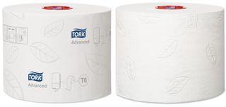 Tork Mid-size Toilet Roll 2ply Advanced T6 Ctn 27