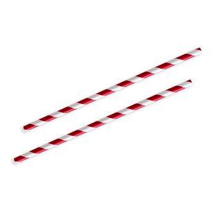 Future Friendly Straw Red Stripe Pkt 250