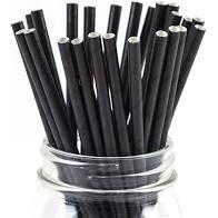 Straw Paper Regular Black Slv250