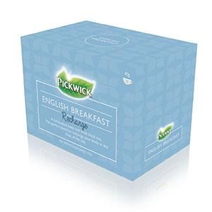 Tea Bags Pickwick English Breakfast Recharge Envelope Box 20