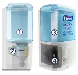 Purell ES8 Touch Free Soap Dispenser  White