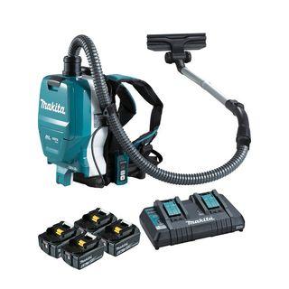 Makita 18Vx2 Cordless 32mm Brushless Backpack HEPA Vacuum (6.0Ah) Kit