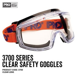 Paramount Pro Choice Safety Gear 3700 Series Goggles Clear Lens