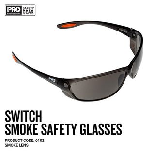 Paramount Pro Choice Safety Gear Switch Smoke Safety Glasses