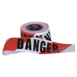 Paramount Pro Choice Safety Gear Barricade Tape - 100m x 75mm DANGER Print