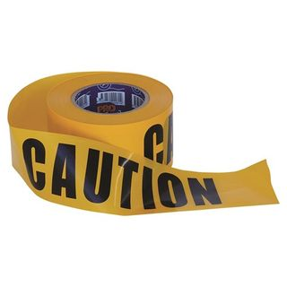 Paramount Pro Choice Safety Gear Barricade Tape - 100m x 75mm CAUTION Print
