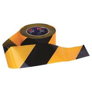 Paramount Pro Choice Safety Gear Barricade Tape - 100mm x 75m Yellow / Black