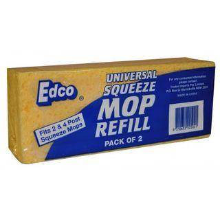 Edco Universal Sponge Mop Refill Pkt 2