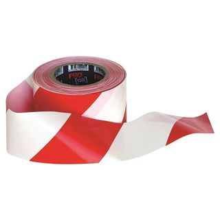 Paramount Pro Choice Safety Gear Barricade Tape - 100m x 75mm Red & White