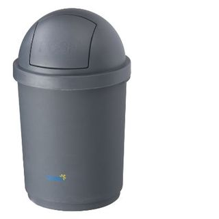 Bin Grey Round Plus Lid 28Lt BB-28DGY