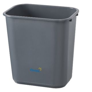 Bin Desk Grey Rectangle No Lid 28Lt  BB-28GY