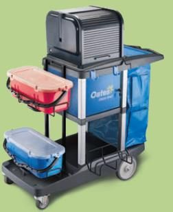 Platinum Janitors Cart Amplified JC-3000ZXE