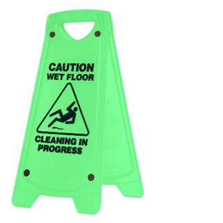 Wet Floor Oates A Frame Sign Green IW-101G