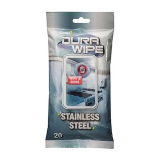 Durawipe Stainless Steel Wipes 20 per Pkt HW-093