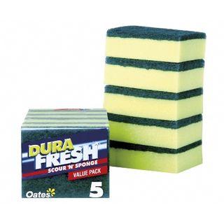 Durafresh Scour n Sponge 5 Pack SC-055