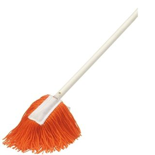 Hand Dust Mop Orange with Handle 900mm SM-265