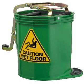 Mop Bucket Roller Green 15Lt Oates Rapid Clean IW-005RG