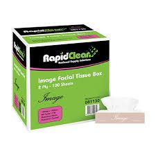 Facial Tissue Rapid Clean 2Ply 100 Sheet Ctn 48 (81130)