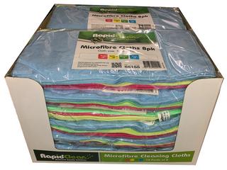 Microfibre Cloth RapidClean Mixed 8pk