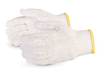 Glove Cotton Knitted Poly Mens