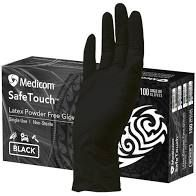 Glove Safetouch Black Latex Small