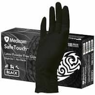 Glove Safetouch Black Latex Large