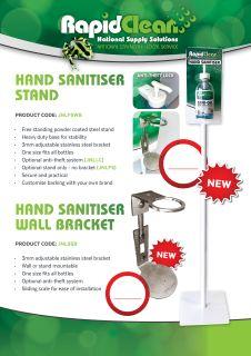 Stand Hand Sanitiser Powder Coated White