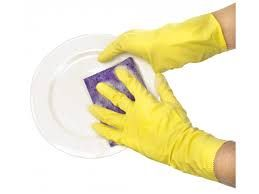 Rubber Glove Flock Lined 9-9.5 Large Thifty Yellows 12Pk