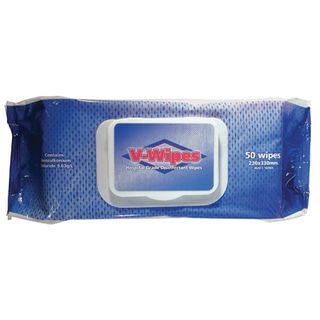 V-Wipes - Hospital Grade Disinfectant Wipes Packet of 50