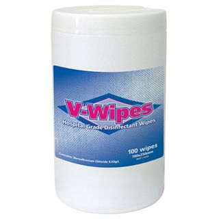 V Wipes - Hospital Grade Disinfectant Wipes Tub of 100