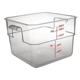 Vogue Polycarbonate Square Storage Container 10L