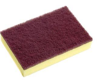 Sabco Scourer Sponge Medium Brown 15x10cm