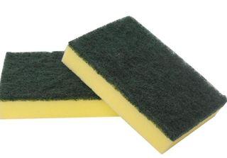Sabco Scourer Sponge Green/Yellow 15x10cm