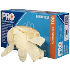 Glove Latex Small Powder Free Pkt 100
