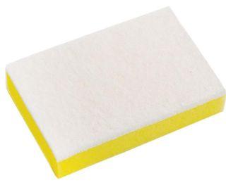 Sabco Scourer Sponge Soft White 15x10cm