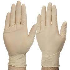 Glove Latex Medium Powdered  Pkt 100