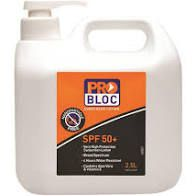 Sunscreen Pro Bloc 2.5 Litre Pump Bottle
