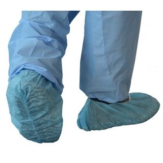 PP Shoecover Antislip Grip Bue Ctn500