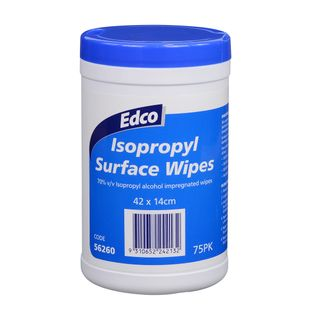Edco Isopropyl Surface Wipes Canister 75pk