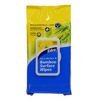 Edco Bacti-Protect Bamboo Surface Wipes 110pk