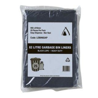 Garbage Bag 82Lt H/Duty Black Ctn 100 Easy Pik