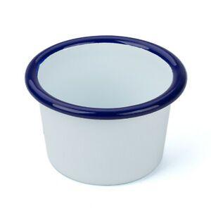 Armstrong White/Blue Enamel Dish 6cm