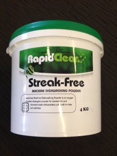 Streak Free Dishwasher Powder Rapid 4kg Tub
