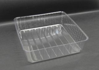 Tray Plastic Clear 7x7 Tray