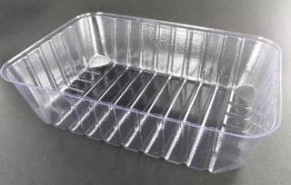 Black Rectangular 6 Pack Oyster Tray Lid (195 x 165) Ctn 1000