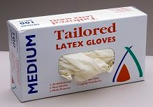 Glove Latex Medium Pkt 100   (1189C)