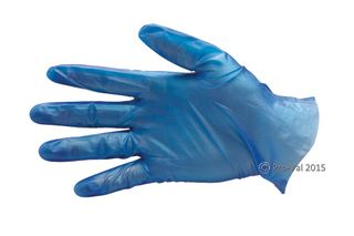 Glove Vinyl Blue Small Powder Free Pkt 100