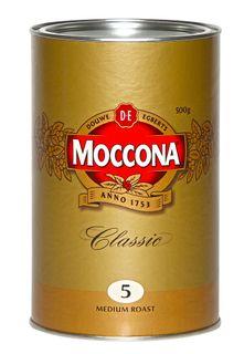 Coffee Moccona Classic Medium Roast Can 500g