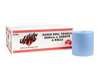 Auto Cut Hand Towel  BLUE 200mmx200m Ctn 6