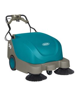 Tennant Sweeper S9 Walk Behind with Twin Side Brushes